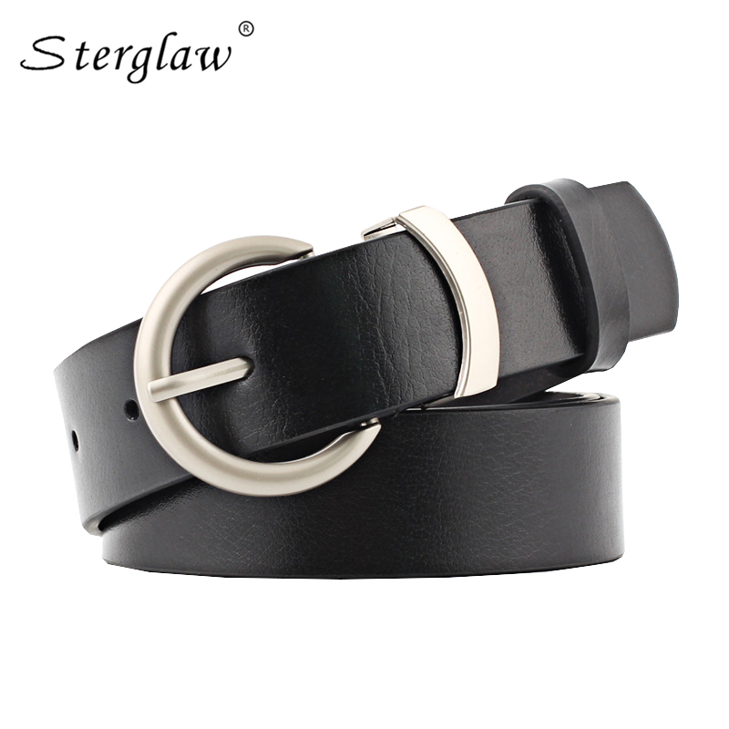 90-110cm Women's Leather Belt Needle Buckle Casual Wild Ladies Belt Retro Fashion brown Decorative Jeans Belt woman riem N019