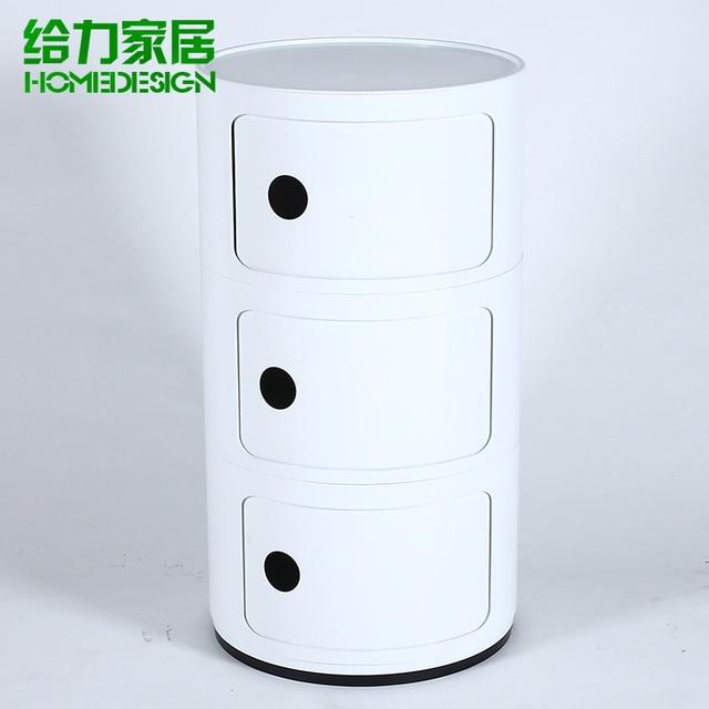 Small Bedside Cabinet Bathroom Minimalist Modern European Fashion Creative Storage Cabinets Lockers Ikea Round