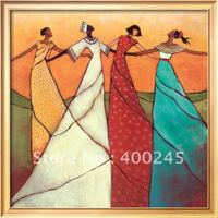Modern abstract oil painting African woman art for bedroom decor Unity 100% handmade oil on canvas high quality