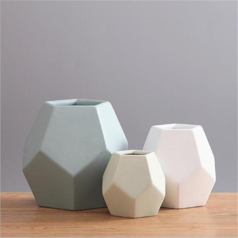 Modern Minimalist Ceramic Flower Vase Scandinavian Creative Living
