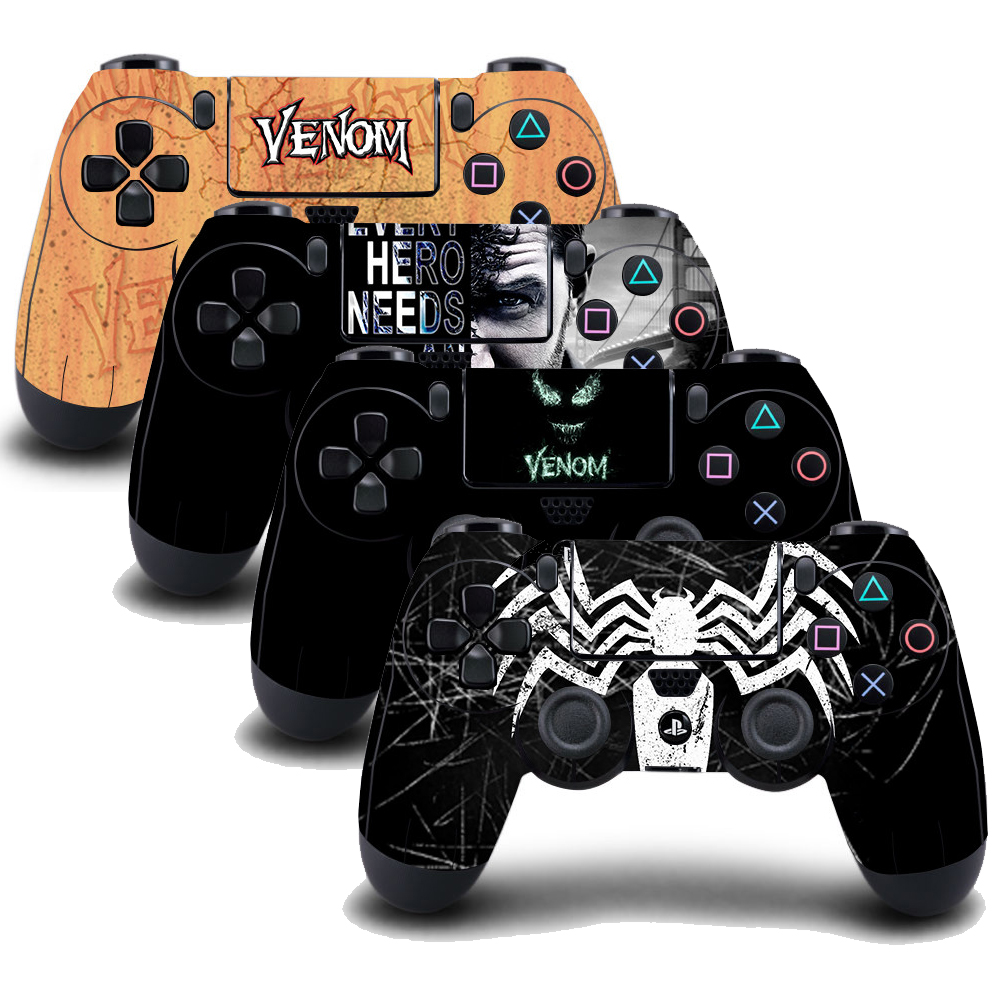 4pcs Ps4 Controller Venom Vinyl Skin Sticker Decal Cover For Playstation4 Ps4 Wireless Controller