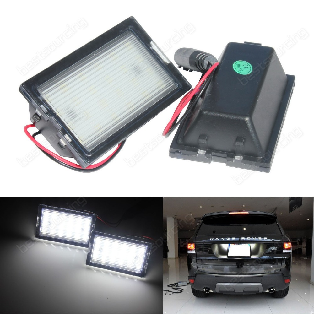 2x Licence Number Plate LED Light White Land Range Rover Sport  Freelander 2 LR2 Discovery Series 3  Discovery Series 4(CA293) leather car seat covers for land rover discovery sport freelander range sport evoque defender car accessories styling