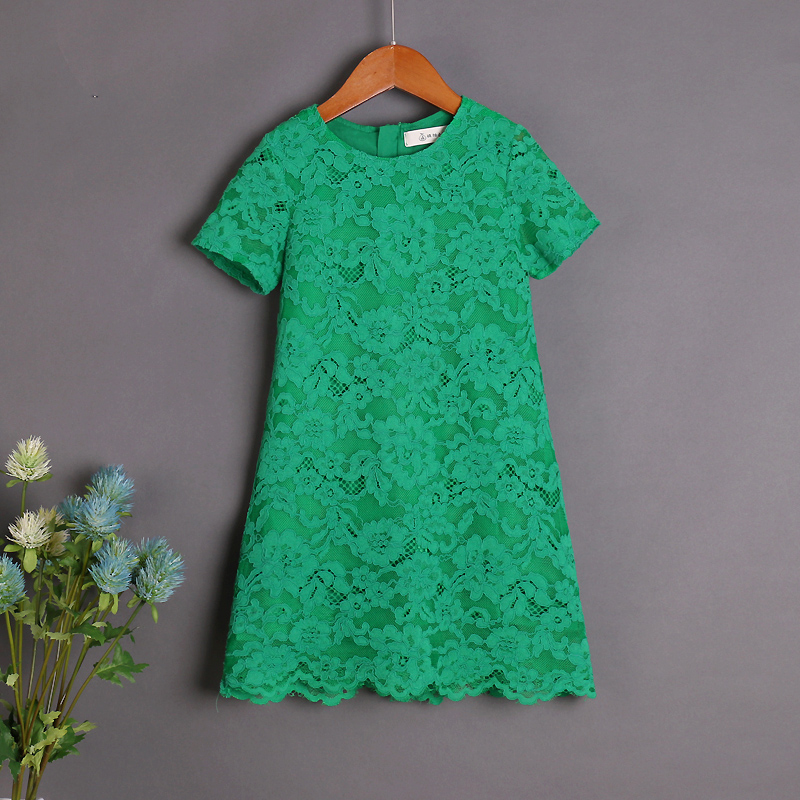 Brand design children clothes mom kids girl green lace skirt mother daughter dress mommy girls beach dresses family look outfits pink lace up design long sleeves top and pleated design skirt two piece outfits
