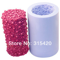 Hot Sale LZ0082 Cylinder With Bubbles Silicone Diy Resin Craft Molds Candle Molds Free Shipping