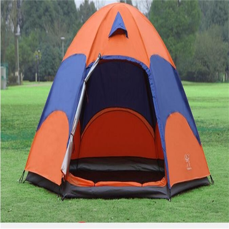 Outdoor Waterproof Camping Tent Breathable UV-Protection Beach Tent for 3-4 person high quality outdoor 2 person camping tent double layer aluminum rod ultralight tent with snow skirt oneroad windsnow 2 plus
