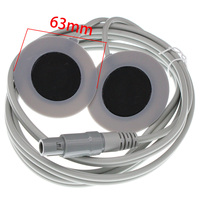 Lemo 4pin plug Low frequency Physiotherapy cable 63mm Magnetic fever heat treatment Electrode pad