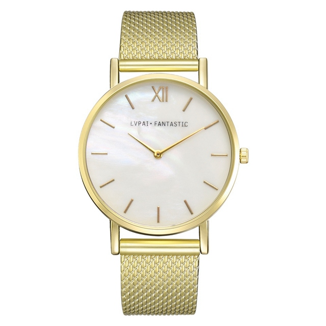 Lvpai Brand Women Watches Silicone Band Quartz Clock Marble Dial Bracelet Watche