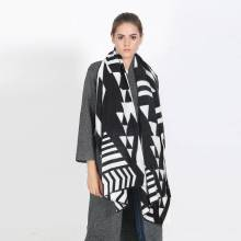 Women Fashion Tartan Foulards Femme Scarf Luxury Brand Blanket Scarf White Black Brand Pashmina YJWD811