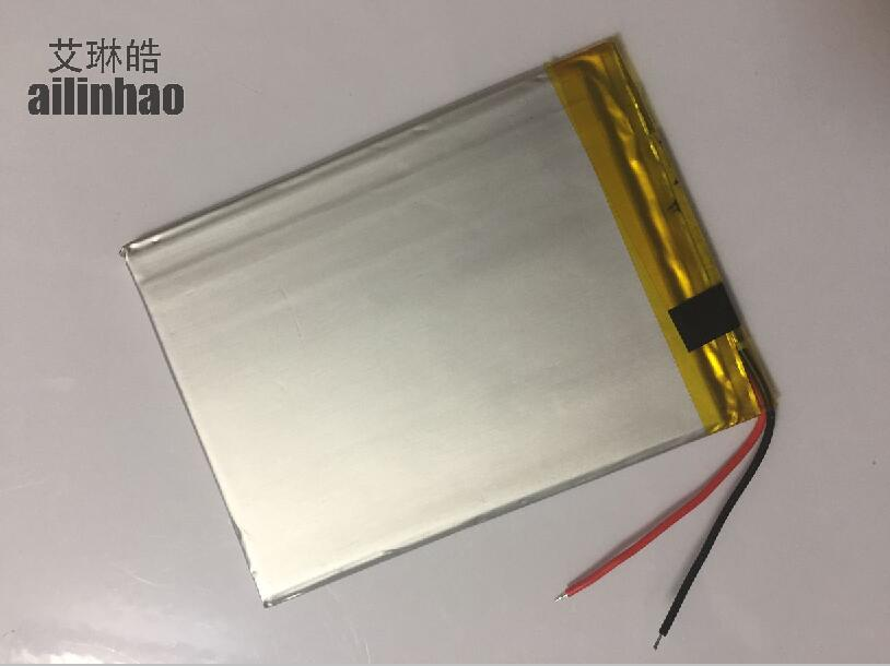 ailinhao new 2 Wire Universal Battery For RoverPad Sky Glory S7 3G GO C7 GO S7 Tablet Battery inner 3000mah 3.7V Polymer li-ion