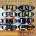 KAJI профессиональные очки для мотокросса  мотоциклетные эндуро внедорожные ветрозащитные очки с пеньками  прозрачные линзы  черные  синие  о...