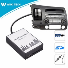 APPS2Car Car Radio USB SD AUX Interface Digital Music Changer Mp3 Adapter for Acura CSX 2006-2011 fits selected OEM Radios
