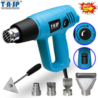 TASP 220V 2000W Electric 3 Temp Settings 60~600C Heat Gun Variable Temperature Control Hot Air Gun with Nozzles Power Tools