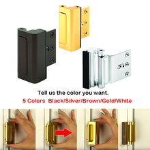 Aluminium Alloy U Door Reinforcement Lock Security Home Child Proof Stopper Withstand 800 lbs for Inwa