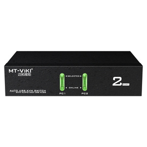 Image 4 - MT Viki 2 Port USB KVM Switch  Hotkey Wired Remote Control with Audio Mic Original Cable Power Adapter MT 0201VK