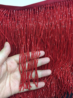 stock tassel 5 yards/bag ym287# Bordeaux red 15 cm beads fringe clothing items for sawing dress fringe trim