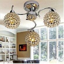 K9 кристалл потолочный светильник, современный гальванический особенность для хрустального металла спальни столовой потолок прихожей лампа