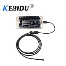 Kebidu Cámara de inspección endoscópica para teléfono, 6 LED, impermeable, 1M, 7mm, 720P, HD, para Android y PC