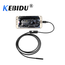 Светодиодный эндоскоп kebidu, водонепроницаемый, 1 м, 7 мм, 720P, HD, для Android, ПК