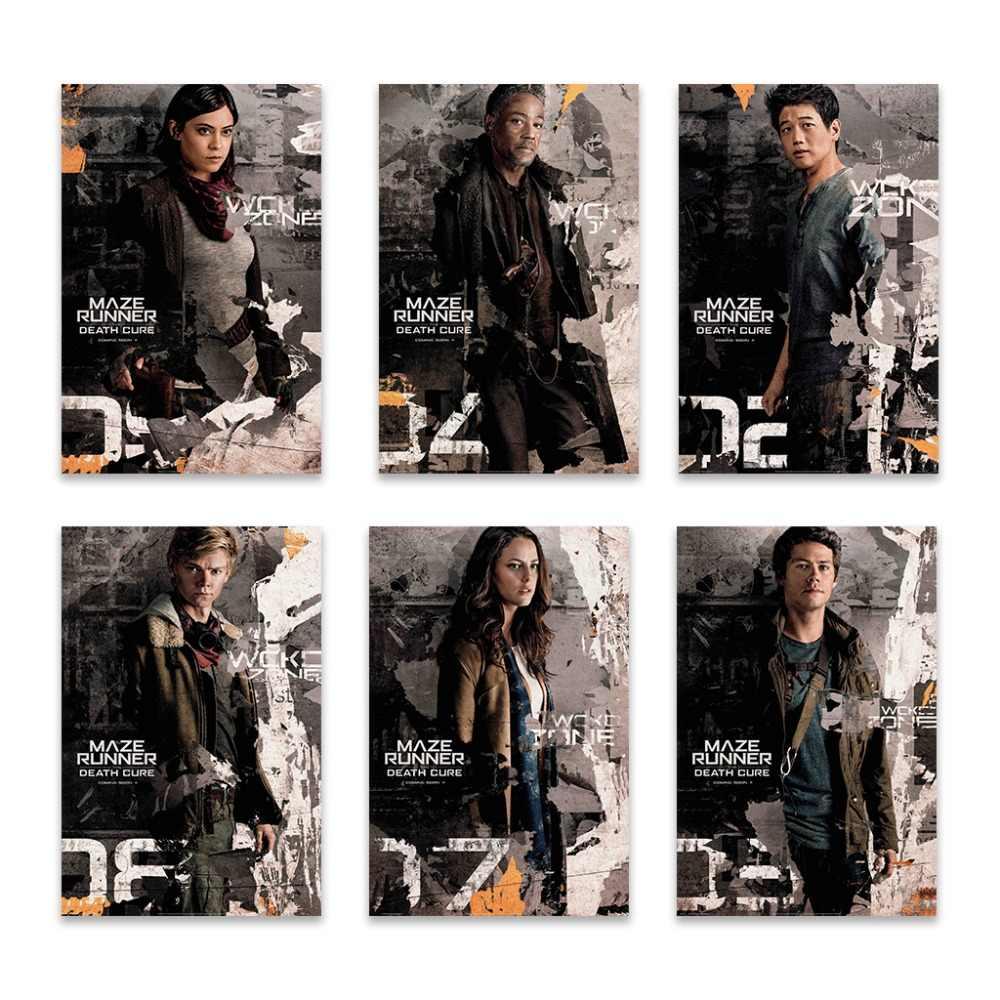 NUOMEGE лабиринт бегун The Death Cure Movie 2018 Бесконтактный художественный Шелковый плакат 13x18 24x36 дюймов настенные картины для комнаты декор