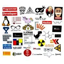 40 PCS Developer Docker Hacker CSS programmerare SQL Roliga cykelklister för PC Mobiltelefon dekoration klistermärken
