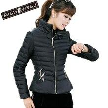 AISHGWBSJ Casaco Feminino Inverno 2017 New autumn Winter Jacket Women Slim Office Ladies Zippers Plus Size Coats BY013