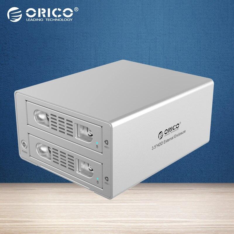 """Prix pour Orico 3529rus3 outil livraison en aluminium 2 baie 3.5 """"sata2.0 usb3.0 et esata hdd station d'accueil externe raid fonction 2bay hdd cas"""