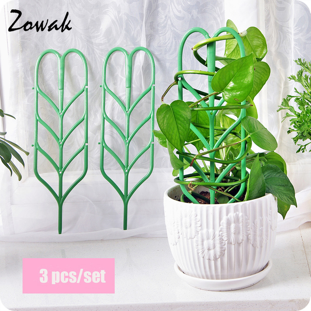 3pcs/set Plant Trellis Climbing Garden DIY Flower Decorative Vines Plants  Support Pot Stand Plants