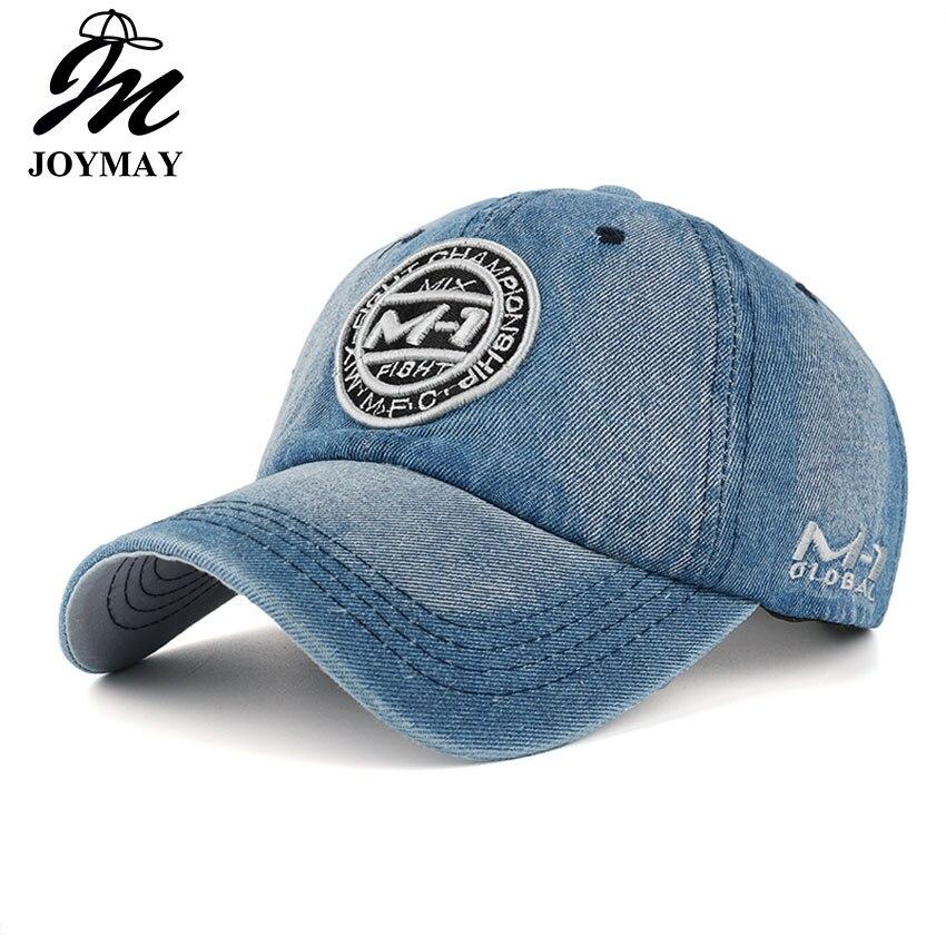 Neue ankunft hohe qualität hysterese kappe demin baseball cap 5 farbe Jean abzeichen stickerei hut für männer frauen junge mädchen kappe B346