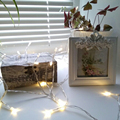 Battery Powered Outdoor Garland Energy LED String Fairy Lights Battery Operated Fairy Light in Warm white