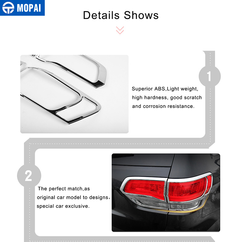 Image 4 - MOPAI Lamp Hoods for Jeep Grand Cherokee 2011 Up Car Rear Tail Light Lamp Decoration Cover for Jeep Grand Cherokee Accessories-in Lamp Hoods from Automobiles & Motorcycles