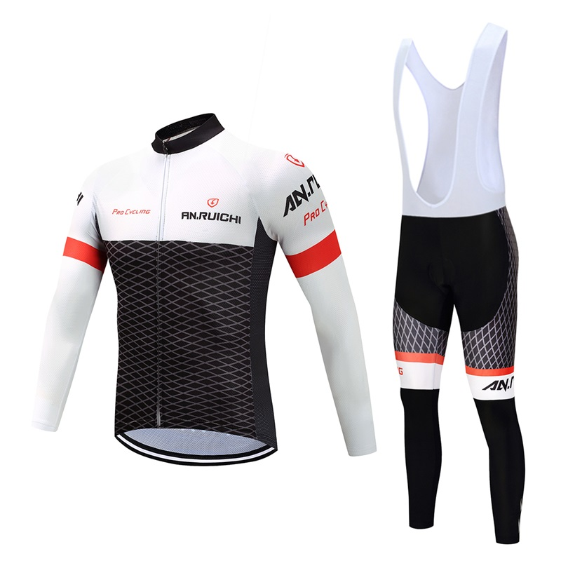 Bicycle Long Sleeve Jersey Mens Winter Fleece Warm Set Motorcycle Cross Country Jersey Pro Team bike clothing MAISAILY