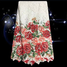 Item No.SKG26,hot sale African cord lace fabric wedding dress,beautiful flower prints Guipure lace fabric