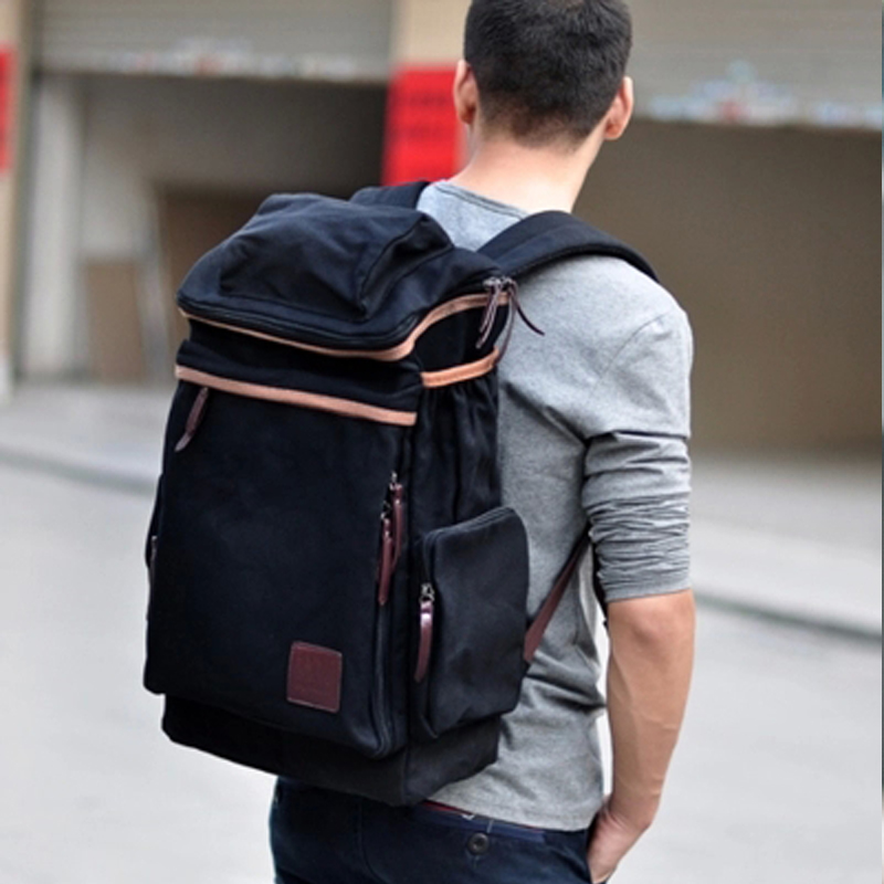 ФОТО New arrival hot sale fashion men bags men canvas casual travel bags high quality man brand business bag men backpacks