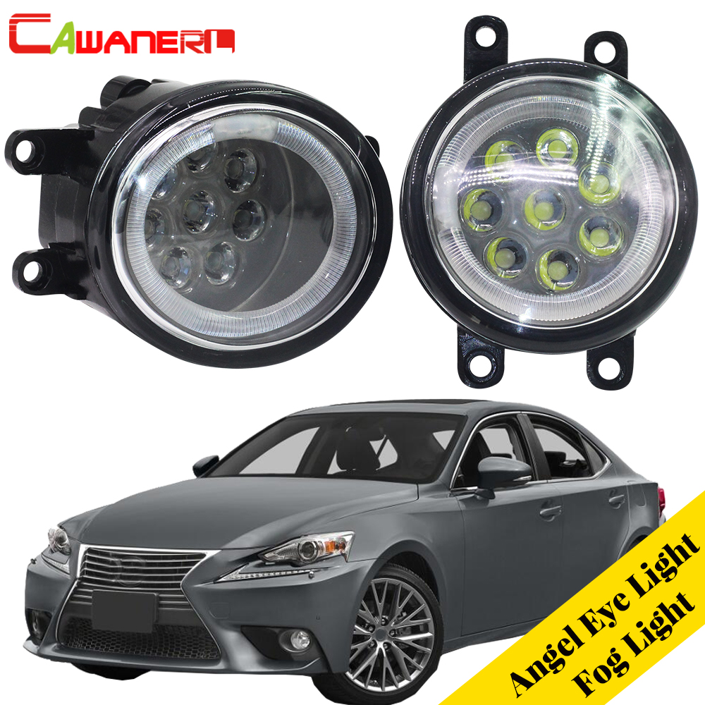 Cawanerl Car LED Bulb Fog Light Angel Eye Daytime Running Light DRL 12V For 2008-2013 Lexus IS250 IS350 With F-Sport Package original 7 85 inch lcd display screen panel repair parts replacement for dx0800be31a0 dx0800be31b0 lcd screen free shipping