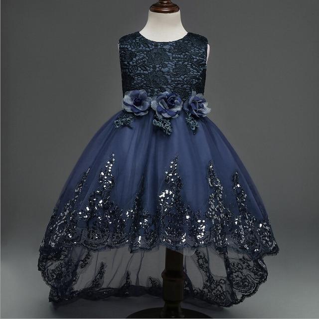 bd0edd51e 3-12 Años Otoño Princesa Niña de las Flores Vestido de Novia Fiesta de  Cumpleaños