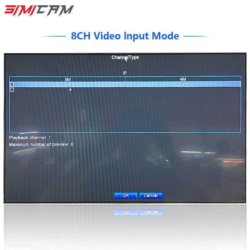 NVR 4 canaux 8 canaux enregistreur vidéo CCTV enregistreur pour ONVIF Wifi caméra ip réseau caméra H.264/H.265 Support app