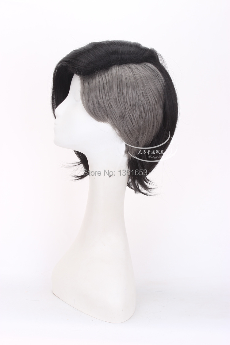 Tokyo Ghoul male and female COS wig Mask Maker Uta Wig short and long black and silver Grey Anime Cosplay Wigs