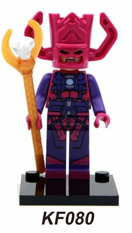 Single Sale Star War Galactus Captain America Spiderman Super Heroes Bricks Building Blocks Education Toys for children KF080  star trek zulu eoward tayburn captain kirk khan scotty spock super heroes bricks model building blocks toys for children kf8002