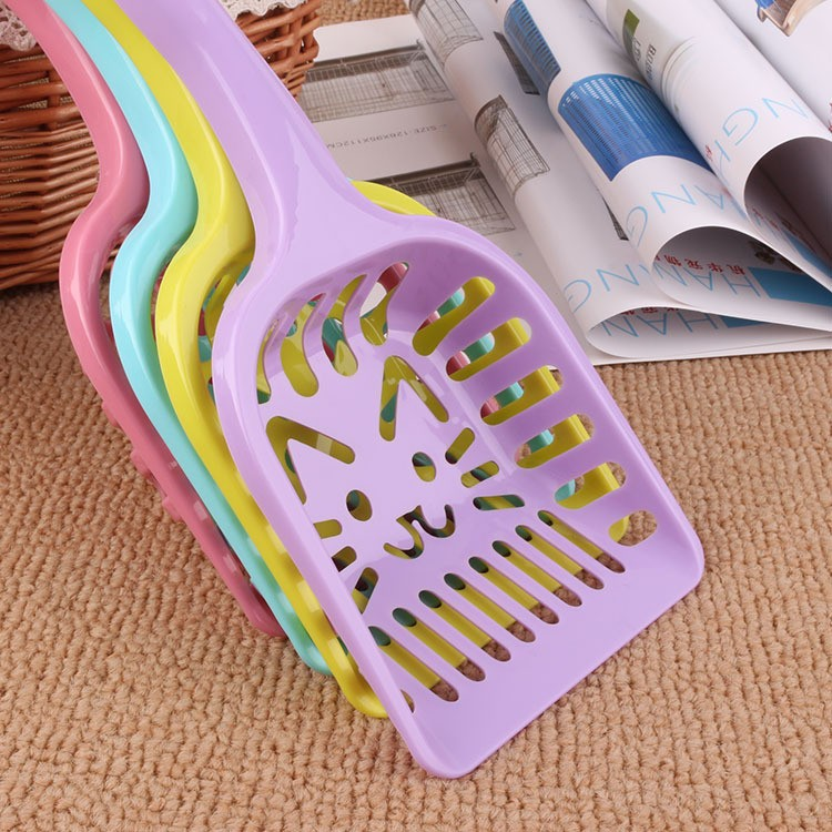 New Pet Products Shovel Cat Litter Plastic Scoop Cat Sand Cleaning Dog Food Spoons Cat sand shovel Pet Supplies PH45 (3)