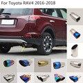 Стайлинг кузова автомобиля  задняя крышка глушителя из нержавеющей стали  выхлопная труба  1 шт. для Toyota RAV4 2016 2017 2018