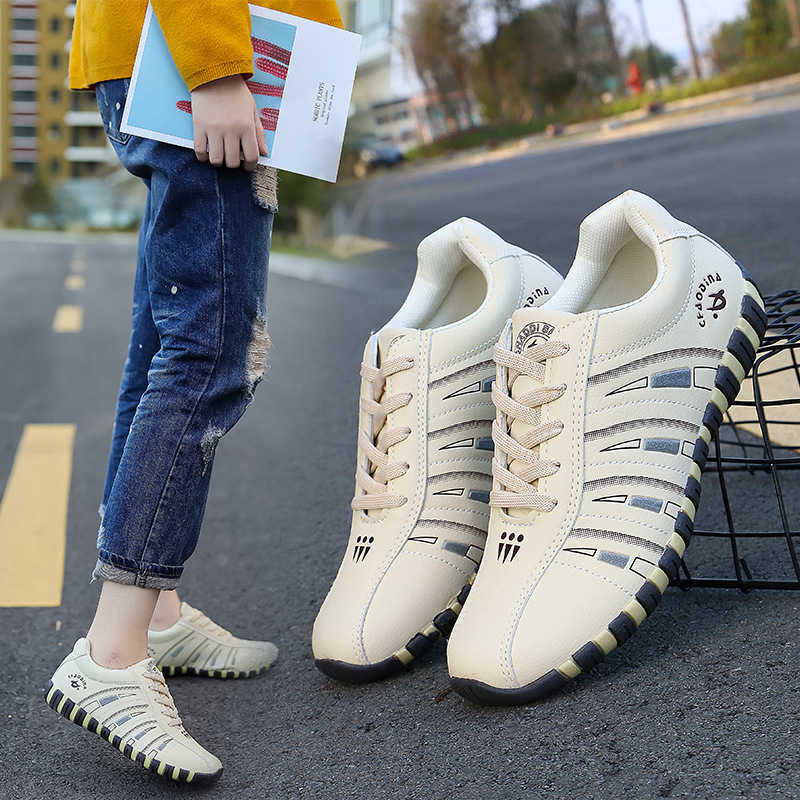 Sneakers Women Breathable Lace-up Running Shoes For Female Outdoor Sport Slip On Solid Casual Walking Shoes Zapatillas Mujer