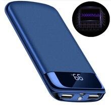 Для Xiao mi iphone 8 X mi запасные аккумуляторы для телефонов 30000 мАч Внешний батарея повербанк портативный зарядное устройство мощность Bank 18650 bateria наружный movil
