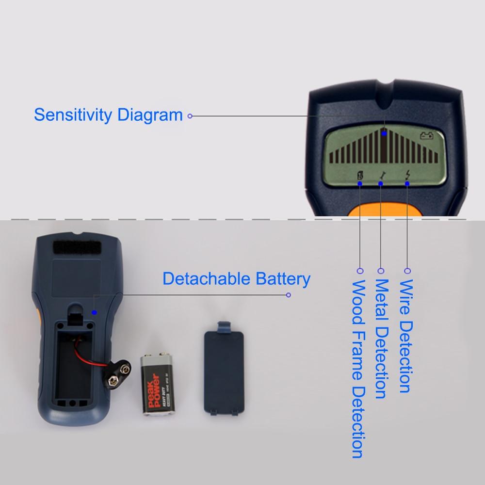 medium resolution of 3in1 lcd intelligent stud scanner ac wire finder wood metal detector wall bi454 sz in