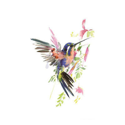 Water Transfer Tattoo cute color Hummingbird Swallows pigeon tatoo Waterproof Temporary fake Tattoo for adults kid 10.5*6cm