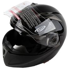 New DOT Gloss Black Modular Flip Up Dual Visor Sun Motorcycle Helmet S/M/L/XL