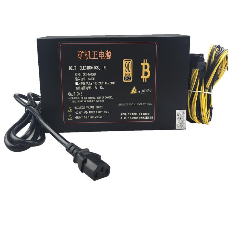 T.F.SKYWINDINT 1600W PC Power Supply 1600W PSU Ant S7 A6 A7 S7 S9 L3 BTC Bitcoin Miner 1600W Power Mining AWP3 PC Power Switch ледокол 010 1600w