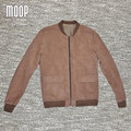 Marrón de cuero genuino capa de la chaqueta de los hombres retro de piel de cerdo motocicleta chaquetas chaqueta de moto hombre veste cuir homme cappotto lt057