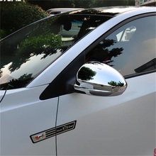 ABAIWAI For Chevrolet Chevy Cruze 2017 ABS Chromed Side Door Rearview Mirror Cover Trims Car Accessories 2Pcs