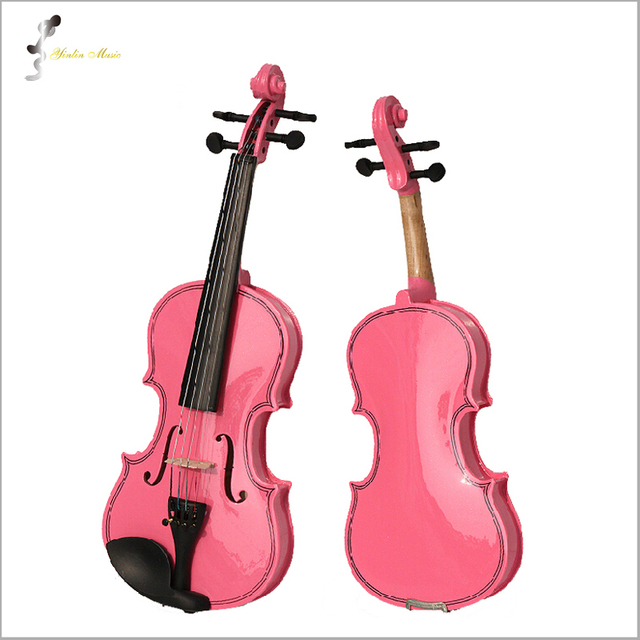 Pink Violin 4/4 1/4 3/4 1/2 1/8 Size Available Violin in Full Set withBow, Rosin and Case Colorful Violins Many Colors Available