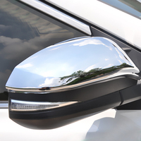 For Toyota RAV4 2013 2017 ABS Chrome Car Door Rear Side Mirror Cover Housing Cover trim Car Styling Accessories 2pcs